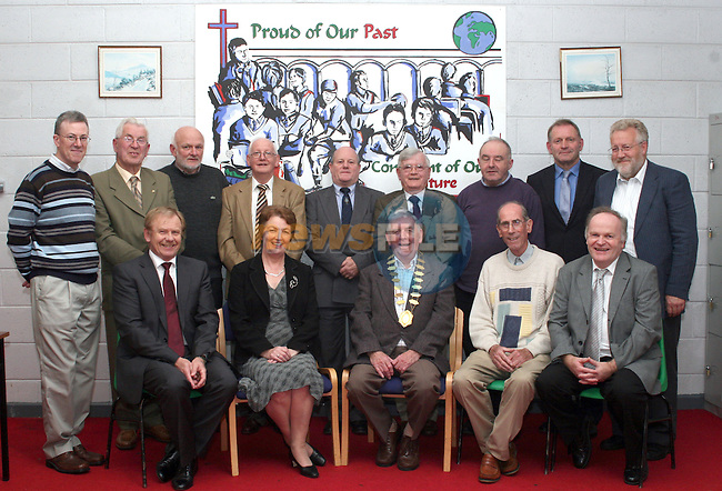 Past Pupils AGM in St. Josephs CBS.  Front row, Mary Adamson, Principal St. Josephs CBS and Johnny Gregory, President of the Past Pupils...Photo NEWSFILE/Jenny Matthews.(Photo credit should read Jenny Matthews/NEWSFILE)....This Picture has been sent you under the condtions enclosed by:.Newsfile Ltd..The Studio,.Millmount Abbey,.Drogheda,.Co Meath..Ireland..Tel: +353(0)41-9871240.Fax: +353(0)41-9871260.GSM: +353(0)86-2500958.email: pictures@newsfile.ie.www.newsfile.ie.FTP: 193.120.102.198.
