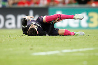 FC Barcelona's Gerard Pique injured during La Liga match. August 28,2016. (ALTERPHOTOS/Acero) /NORTEPHOTO