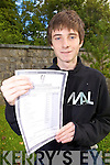 Ruaidhri Keane from Listowel who got ten A's in his Junior Certificate last Wednesday from St Michael's College, Listowel.