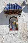 Small religious shrine in the village of Bubion, High Alpujarras, Sierra Nevada, Granada province, Spain