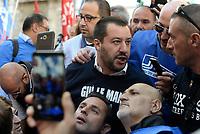 Matteo Salvini alla manifestazione della Polizia Penitenziaria