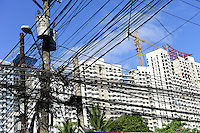 PHILIPPINES, Manila, Quezon City, new appartment buildings and electric grid