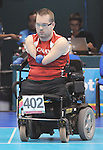 November 16 2011 - Guadalajara, Mexico: Adam Dukovovh during her Bronze medal match in the Multipurpose Gymnasium Revolución at the 2011 Parapan American Games in Guadalajara, Mexico.  Photos: Matthew Murnaghan/Canadian Paralympic Committee