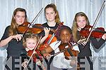 Playing the violin at the Kerry School of Music Musician of the year in the Malton Hotel Sunday evening l-rL Rachel Martin Tarbert, Caoilfhionn Doyle Killarney, Meadhbh O'Sullivan Killorglin, Hannah Aladesanusyi Tralee and Kate Hickey Castlemaine
