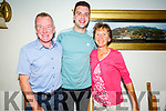 Conor and David Kavanagh and Niamh O'Sullivan enjoying the evening in Bella Bia on Saturday.