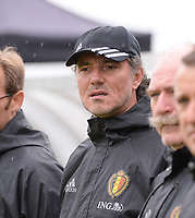20170914 - TUBIZE ,  BELGIUM : Belgian assistant coach Kris Van Der Haegen pictured during the friendly female soccer game between the Belgian Red Flames and European Champion The Netherlands , a friendly game in the preparation for the World Championship qualification round for France 2019, Thurssday 14 th September 2017 at Euro 2000 Center in Tubize , Belgium. PHOTO SPORTPIX.BE | DAVID CATRY