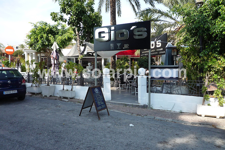**ALL ROUND PICTURES FROM SOLARPIX.COM**.**WORLDWIDE SYNDICATION RIGHTS**.Marbella GVs..This pic:  Gio's Restaurant, near Andalucia Plaza Hotel, Puerto Banus.JOB REF: 7863    AB1       DATE: 12.10.08.**MUST CREDIT SOLARPIX.COM OR DOUBLE FEE WILL BE CHARGED* *UNDER NO CIRCUMSTANCES IS THIS IMAGE TO BE REPRODUCED FOR ANY ONLINE EDITION WITHOUT PRIOR PERMISSION*