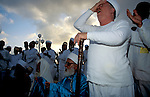 Samaritan prayer at Passover on Mt. Gerizim<br />