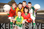 SPORTS TIME: It was sports time at Scoil Realta na Maidine Listowel on Thursday last when a new development of all weather multi sport facilites was unveiled..Front L/r. Brian Sweeney, Brenda Pierse (Parents Association)..Back L/r.Cormac Mulvihill, Jack Hartnett, Michael Stack and Jack Galvin.