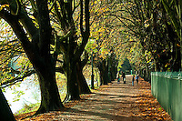 Avenham Park, Preston, Lancashire in autumn.