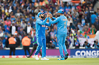 Virat Kolli (India) celebrates with KL Rahul (India) at the conclusion of the match during India vs Australia, ICC World Cup Cricket at The Oval on 9th June 2019