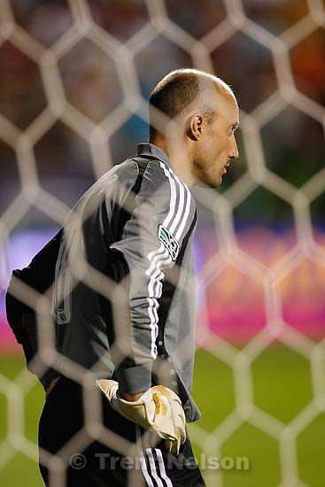 Sandy - as the MLS All-Star team faces Everton FC in the second half of the MLS All-Star Game at RioTinto Stadium, Wednesday, July 29 2009..MLS keeper Kasey Keller (18)