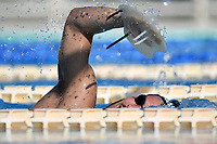 Mattia Zuin swims during a training session.  <br /> Italian athletes were able to resume training last week after more than 50 days of lockdown due to the coronavirus (covid-19) pandemic <br /> Roma 12-5-2020 Centro Federale di Ostia <br /> Photo Andrea Staccioli / Deepbluemedia / Insidefoto