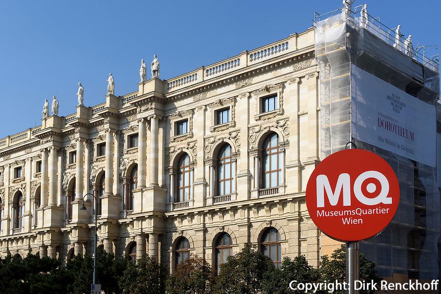 Kunsthistorisches Museum beim Museumsquartier, Wien, &Ouml;sterreich, UNESCO-Weltkulturerbe<br /> Museum of Fine Arts, Vienna, Austria, world heritage