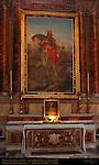 Chapel of St Olav of Norway Altarpiece St Olav Pius Wleonski Altar Painting Sacred Heart Marco Carichia 1797 Relics Roman Martyr Saturninus San Carlo al Corso Rome
