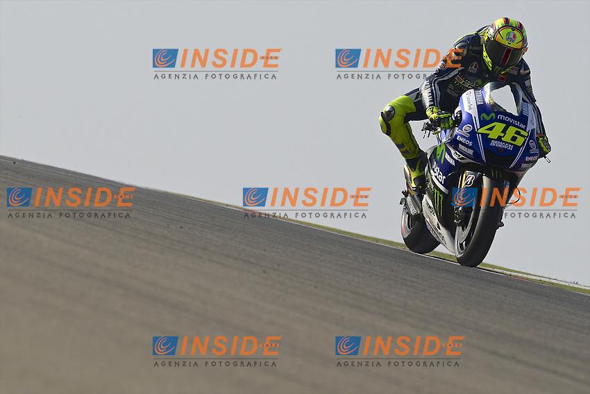 Aragon (Spagna) 27/09/2014 - qualifiche Moto GP - foto Luca Gambuti/Image Sport/Insidefoto<br /> nella foto: Valentino Rossi