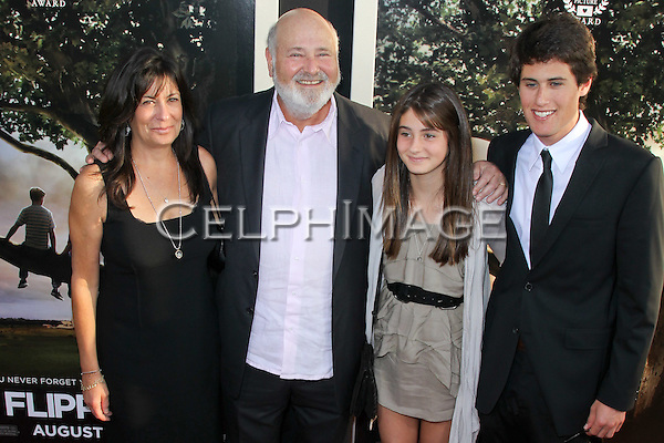 MICHELE SINGER REINER, ROB REINER, ROMY REINER, JAKE REINER.arrives to the Los Angeles Premiere of 'Flipped,' at the Cinerama Dome/Arclight Theater. Hollywood, CA, USA.July 26, 2010. ©CelphImage