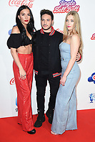 LONDON, UK. December 08, 2018: Lennon Stella, Jonas Blue & Becky Hill at Capital's Jingle Bell Ball 2018 with Coca-Cola, O2 Arena, London.<br /> Picture: Steve Vas/Featureflash