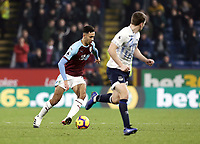 Burnley's Dwight McNeil looks to run beyond Everton's Seamus Coleman<br /> <br /> Photographer Rich Linley/CameraSport<br /> <br /> The Premier League - Burnley v Everton - Wednesday 26th December 2018 - Turf Moor - Burnley<br /> <br /> World Copyright &copy; 2018 CameraSport. All rights reserved. 43 Linden Ave. Countesthorpe. Leicester. England. LE8 5PG - Tel: +44 (0) 116 277 4147 - admin@camerasport.com - www.camerasport.com