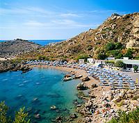 Griechenland, Dodekanes, Rhodos, bei Ladiko: Anthony-Quinn-Bucht ist heute der gebraeuchliche Name für die Vagies-Bucht an der Ostkueste | Greece, Dodekanes, Rhodes, near bei Ladiko: Anthony-Quinn-Bay (Vagies Bay) on the East coast