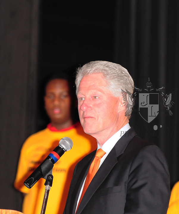 MIAMI, FL - JANUARY 21:  Former United States president Bill Clinton attends announcement for Alliance for a Healthier Generation at Edison Middle School on January 21, 2011 in Miami, Florida. Photo by Johnny Louis/jlnphotography.com