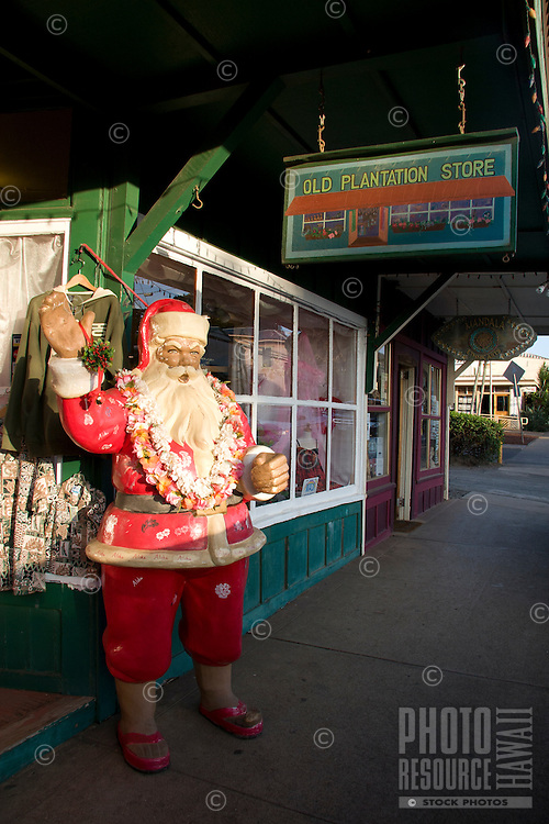 Hawaiian Santa in downtown Pa'ia town, Maui.