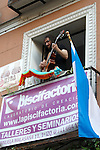 Andres Sudon during the Festival de Musica Balconica-Musica Balconica Festival in Malasana street. June 29,2012. (ALTERPHOTOS/Alconada)