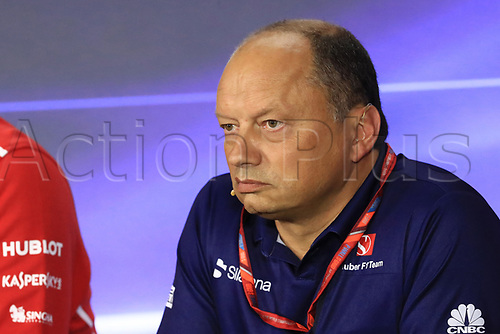 1st September 2017, Autodromo Nazionale Monza, Monza; Italian Grand Prix, Friday FIA Team Press Conference; Frederic Vasseur – Team Principal and CEO of Sauber Motorsport AG