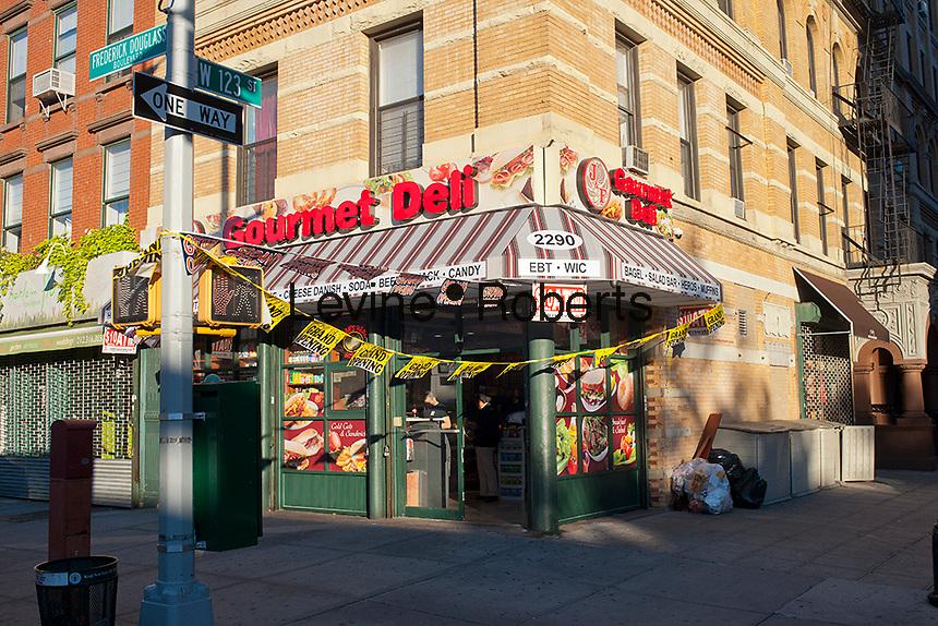 Grand opening of a bodega in the Harlem neighborhood of New York on Thursday, October 11, 2012. (© Richard B. Levine)