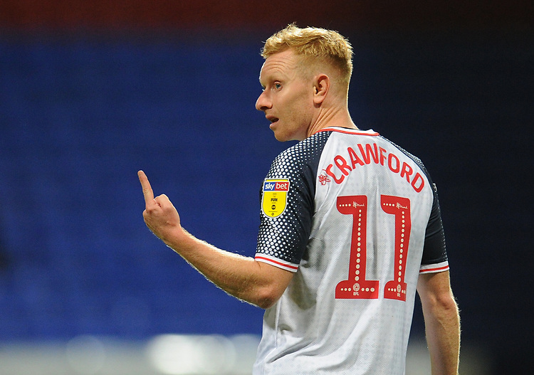 Bolton Wanderers' Ali Crawford<br /> <br /> Photographer Kevin Barnes/CameraSport<br /> <br /> The EFL Sky Bet League One - Bolton Wanderers v Blackpool - Monday 7th October 2019 - University of Bolton Stadium - Bolton<br /> <br /> World Copyright © 2019 CameraSport. All rights reserved. 43 Linden Ave. Countesthorpe. Leicester. England. LE8 5PG - Tel: +44 (0) 116 277 4147 - admin@camerasport.com - www.camerasport.com