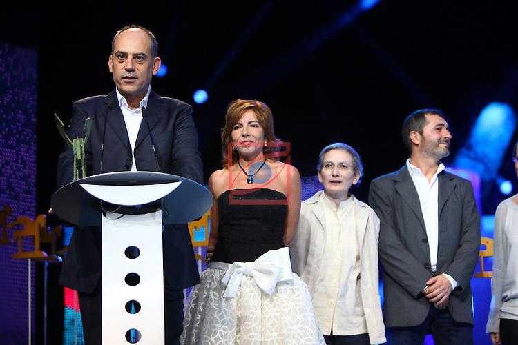 61 Premios Ondas.<br /> Gala ONDAS-Gran Teatre del Liceu.<br /> Equipo En Portada de la 2.
