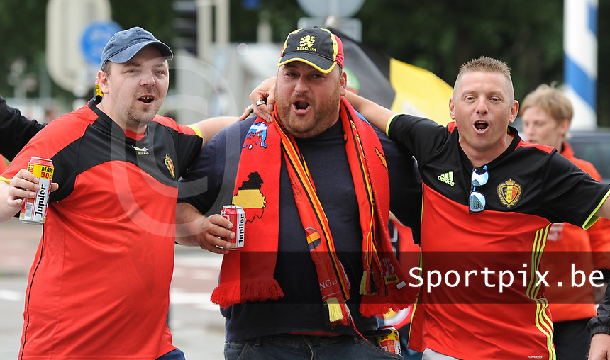 20170720 - BREDA , NETHERLANDS : illustration about fans  pictured before the female soccer game between Norway and Belgium  , the second game in group A at the Women's Euro 2017 , European Championship in The Netherlands 2017 , Thursday 20 th June 2017 at Stadion Rat Verlegh in Breda , The Netherlands PHOTO SPORTPIX.BE | DIRK VUYLSTEKE