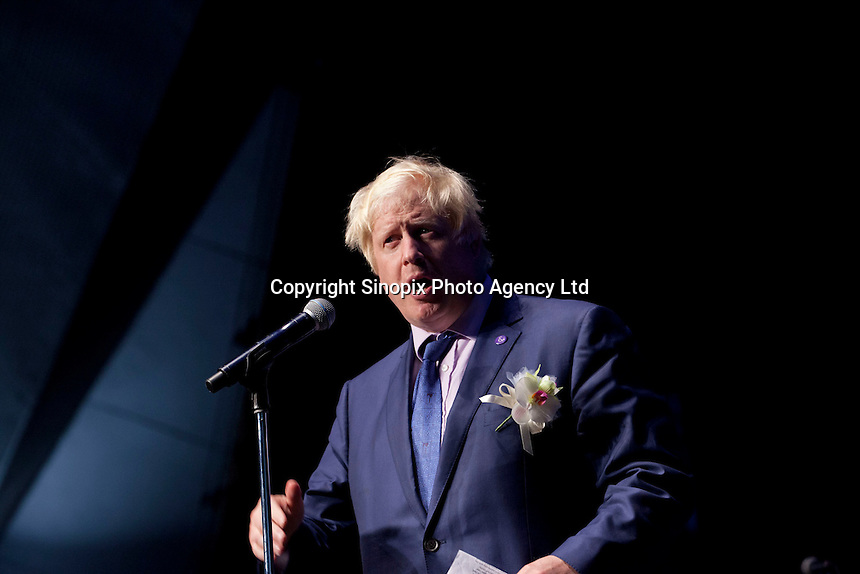 OCTOBER 15, 2014 -TOKYO, JAPAN: Mayor of London, Boris Johnson, promotes UK-Japan partnerships in cell therapy and regenerative medicine at Bio-city conference in Yokohama, Japan 14th October, 2015. (photo by Ko Sasaki- Sinopx)