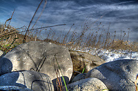 Rocks at The W. Darcy McKeough Floodway.