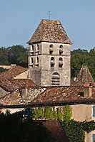 Europe/France/Aquitaine/24/Dordogne/Saint-Jean-de-Côle: Clocher de l'église et toits du village - Plus Beaux Villages de France