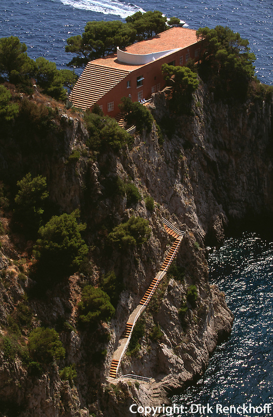 Italien, Capri, Villa Malaparte am Pizzolungo-Wanderweg