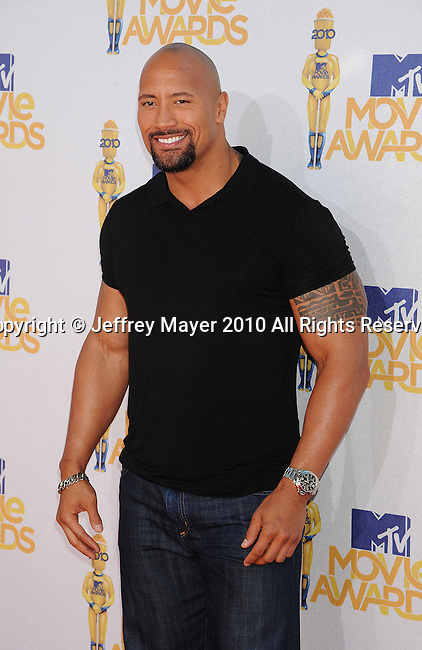 UNIVERSAL CITY, CA. - June 06: Dwayne Johnson arrives at the 2010 MTV Movie Awards at Gibson Amphitheatre on June 6, 2010 in Universal City, California.