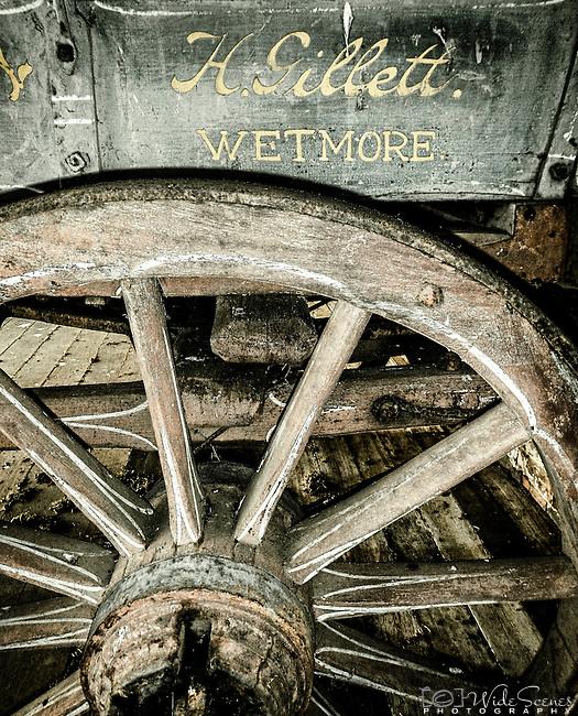 Old carriage on the property of Clarendon House, Nile, Tasmania, Australia
