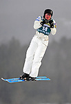 16 January 2009:  Deidra Dionne from Canada performs aerial acrobatics during the FIS Freestyle World Cup warm-ups at the Olympic Ski Jumping Facility in Lake Placid, NY, USA. Mandatory Photo Credit: Ed Wolfstein Photo. Contact: Ed Wolfstein, Burlington, Vermont, USA. Telephone 802-864-8334. e-mail: ed@wolfstein.net