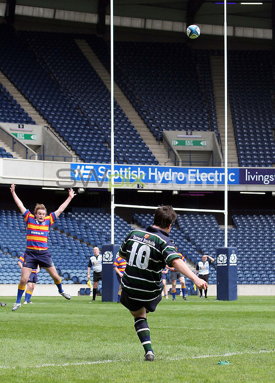 PICTURE BY VAUGHN RIDLEY/SWPIX.COM -  Rugby Union - SRU National Finals Day - Men's Plate - GHK v Crieff & Strathearn - Murrayfield, Edinburgh, Scotland - 05/05/07...Copyright - Simon Wilkinson - 07811 267706...GHK's Jaimie Millan.