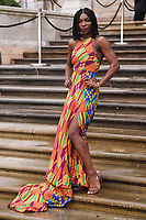 "Michaela Coel<br /> arriving for the world premiere of ""Our Planet"" at the Natural History Museum, London<br /> <br /> ©Ash Knotek  D3491  04/04/2019"