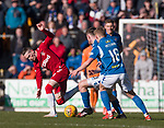23.02.2020 St Johnstone v Rangers: Ryan Kent battling in midfield