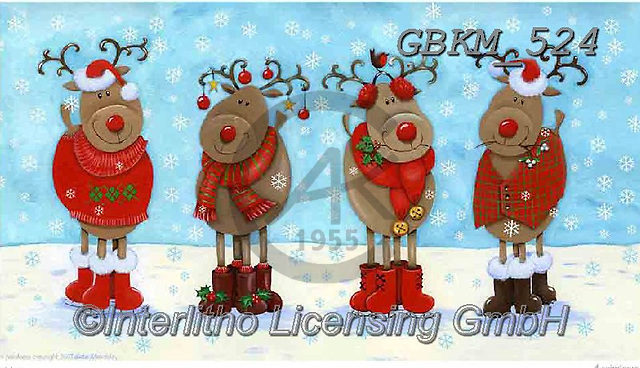Kate, CHRISTMAS ANIMALS, WEIHNACHTEN TIERE, NAVIDAD ANIMALES, paintings+++++Christmas page 9 3,GBKM524,#xa#