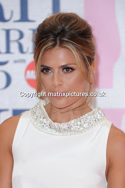 NON EXCLUSIVE PICTURE: PAUL TREADWAY / MATRIXPICTURES.CO.UK<br /> PLEASE CREDIT ALL USES<br /> <br /> WORLD RIGHTS<br /> <br /> British television presenter Zoe Hardman attending the BRIT Awards 2015 at the O2 Arena, in London.<br /> <br /> FEBRUARY 25th 2015<br /> <br /> REF: PTY 15627