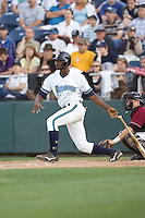 July 4, 2009: Everett AquaSox's Welington Dotel at-bat during a Northwest League game against the Yakima Bears at Everett Memorial Stadium in Everett, Washington.