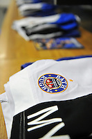 A general view of the Bath Rugby emblem on a pair of shorts in the changing rooms. European Rugby Champions Cup quarter final, between Leinster Rugby and Bath Rugby on April 4, 2015 at the Aviva Stadium in Dublin, Republic of Ireland. Photo by: Patrick Khachfe / Onside Images