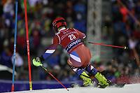 January 8th 2020, Madonna di Campiglio, Italy;  FIS Alpine Ski World Cup Men's Night Slalom in Madonna di Campiglio, Italy on January 8, 2020, Alexander Khoroshilov (RUS)<br />  - Editorial Use