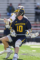 College Park, MD - April 1, 2017: Michigan Wolverines Ian King in action during game between Michigan and Maryland at  Capital One Field at Maryland Stadium in College Park, MD.  (Photo by Elliott Brown/Media Images International)