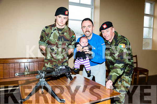 At the Ballymullen Baracks open Day on Monday were Pte Evan Lewis, Neil O'Shea, Ava O'shea and Sgt David Locke