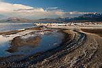 "Tufa ""shoals"" below Black Point, looking southwest, Mono Lake, California, USA"
